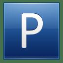 Letter P blue icon
