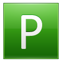 Letter P lg icon