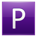 Letter P violet icon