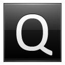 Letter Q black icon