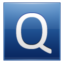 Letter Q blue icon