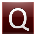 Letter Q red icon