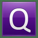 Letter Q violet icon