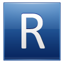 Letter R blue icon