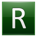 Letter R dg icon