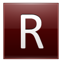 Letter R red icon