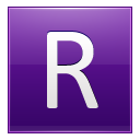 Letter R violet icon