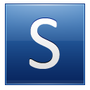 Letter S blue icon