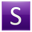 Letter S violet icon