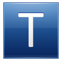 Letter T blue icon