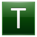 Letter T dg icon