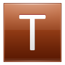 Letter T orange icon