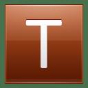 Letter T orange icon