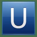 Letter U blue icon