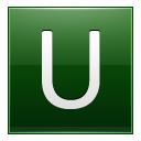 Letter U dg icon