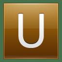 Letter U gold icon