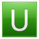 Letter U lg icon