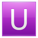 Letter U pink icon
