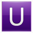 Letter U violet icon