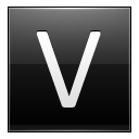 Letter V black icon