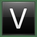 Letter V black icon