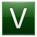 Letter V dg icon