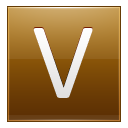 Letter V gold icon