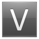 Letter V grey icon