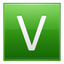 Letter V lg icon