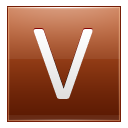 Letter V orange icon