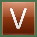 Letter V orange icon