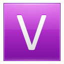 Letter V pink icon