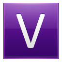 Letter V violet icon
