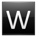 Letter W black icon