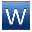 Letter W blue icon