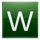 Letter W dg icon