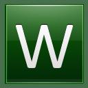 Letter W dg icon