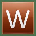 Letter W orange icon