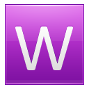 Letter W pink icon