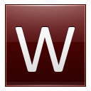 Letter W red icon