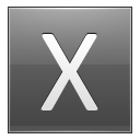 Letter X grey icon