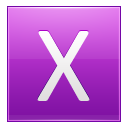Letter X pink icon