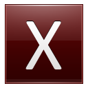 Letter-X-red icon