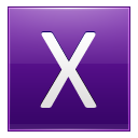 Letter X violet icon