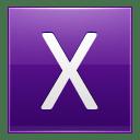 Letter X violet icon