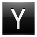 Letter Y black icon