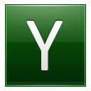 Letter Y dg icon