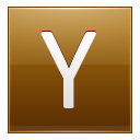 Letter Y gold icon