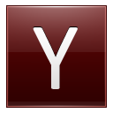 Letter Y red icon