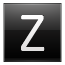 Letter Z black icon